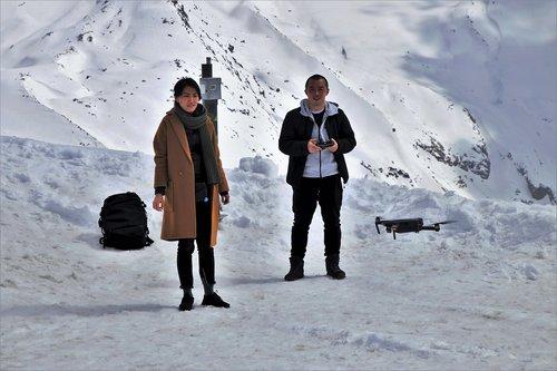 uav  the alps  drone