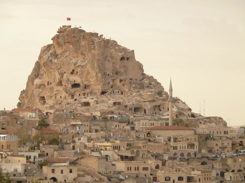 uchisar city mountain