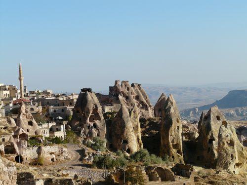 uchisar minaret tuff stone dwellings