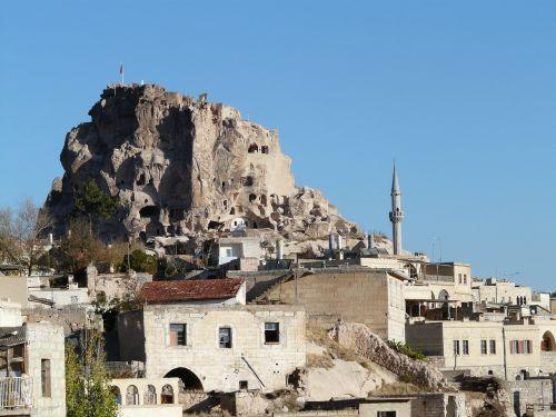 uchisar tuff stone dwellings cappadocia