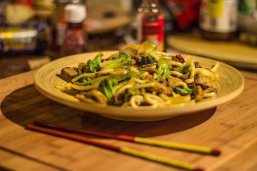 udon wok bamboo