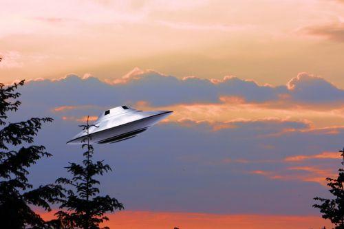 ufo alien sky