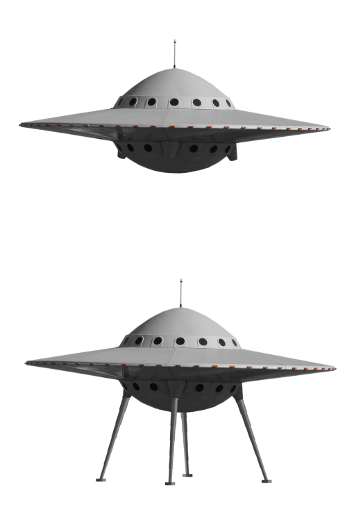 ufo spaceship isolated