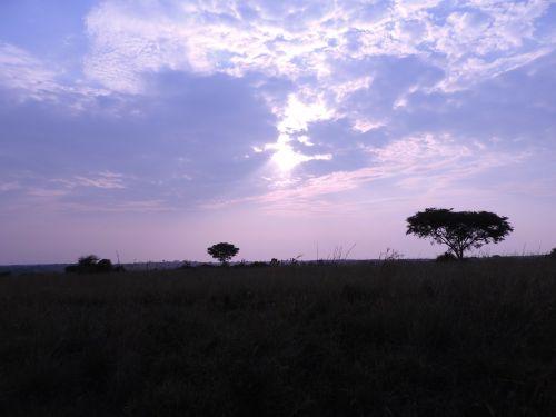 uganda twilight landscape