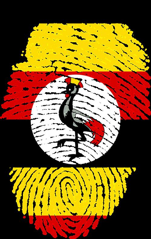uganda flag fingerprint