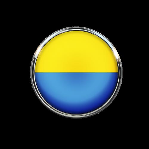 ukraine flag circle
