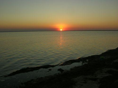 ukraine lake sunset