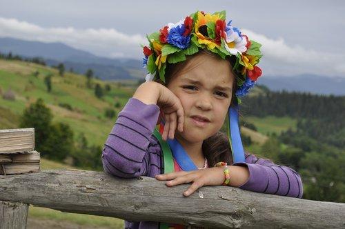 ukraine  the carpathians  wreath