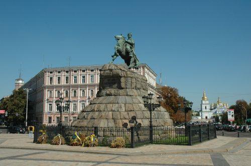 ukraine kiev the symbols of kiev