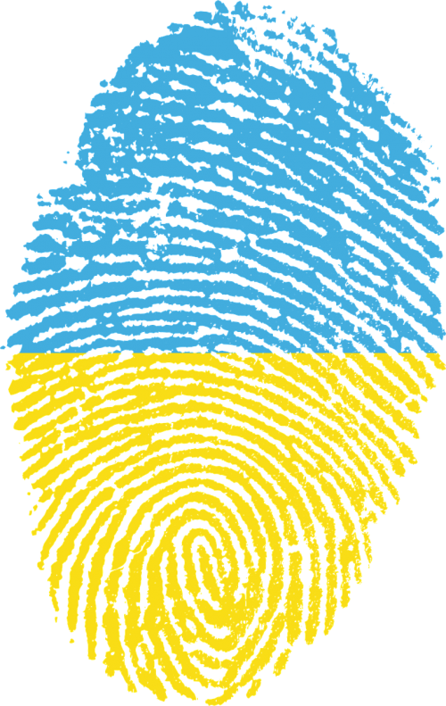 ukraine flag fingerprint