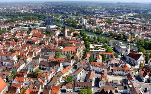 ulm,münsteris,Danube,perspektyva,ulm east