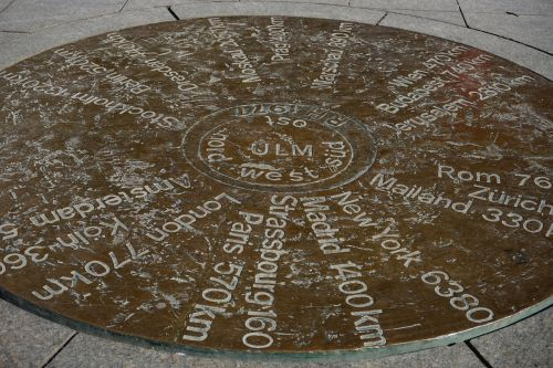 ulm cities copper plate