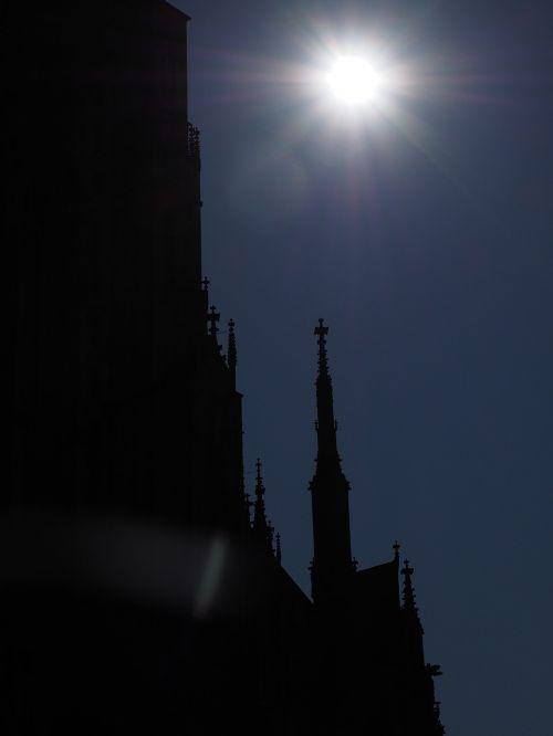 ulm cathedral solar eclipse münster