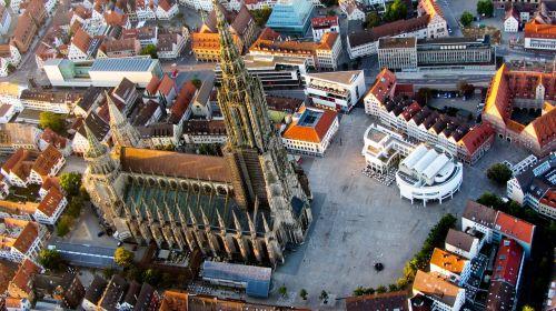 ulm cathedral ulm aerial view