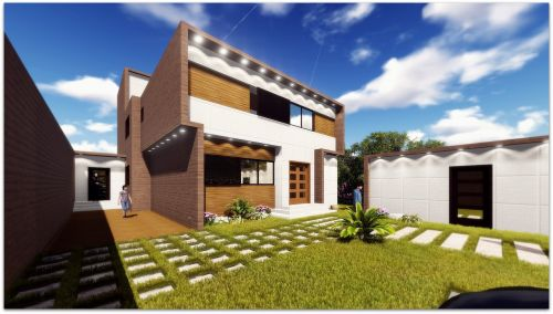 ultra modern villa wooden facade