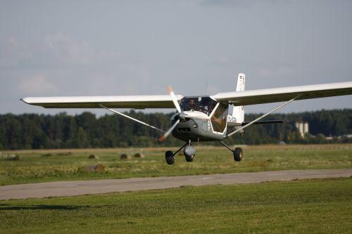ultralight landing plane