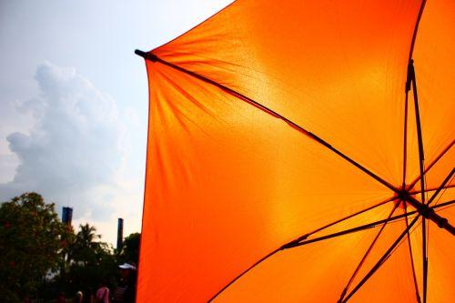 skėtis,dangus,saulė,saulė,atsparus saulei,oranžinė,blokuoti saulę,vasara,karštas