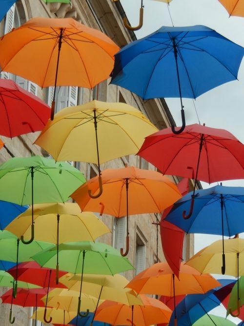 umbrella festival street