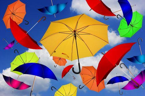 umbrella color atmosphere