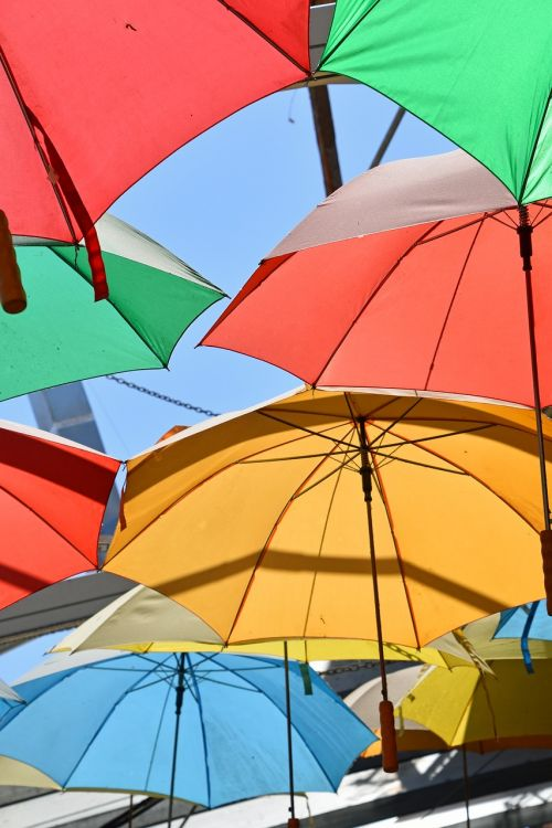 umbrella multi colour color
