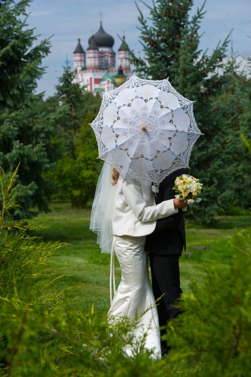 umbrella white umbrella wedding