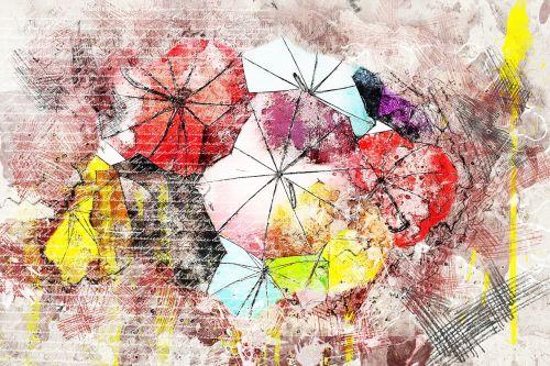 umbrella colorful art