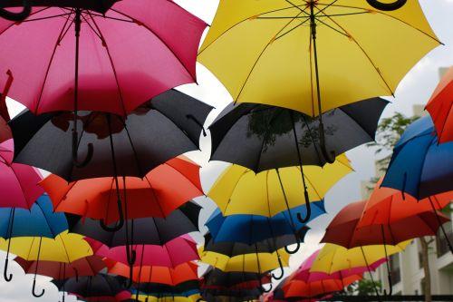 umbrella colorful umbrellas