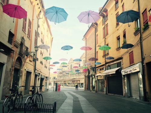 umbrellas art city street