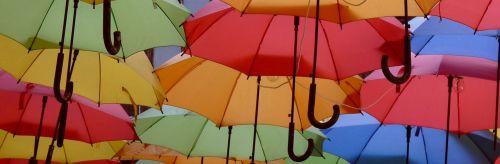 umbrellas colorful screen