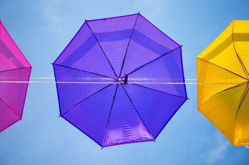 umbrellas summer sky
