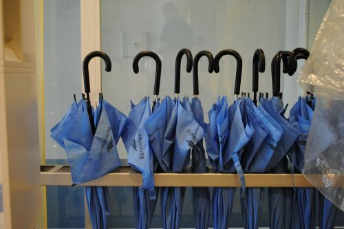 umbrellas screens blue