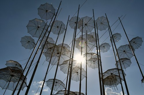 umbrellas  art  sculpture
