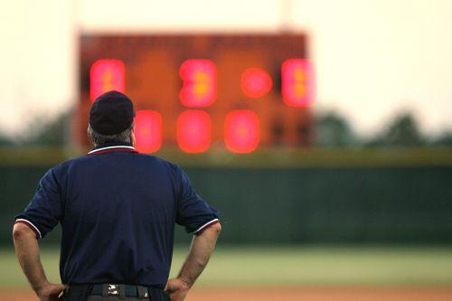 umpire sports official scoreboard