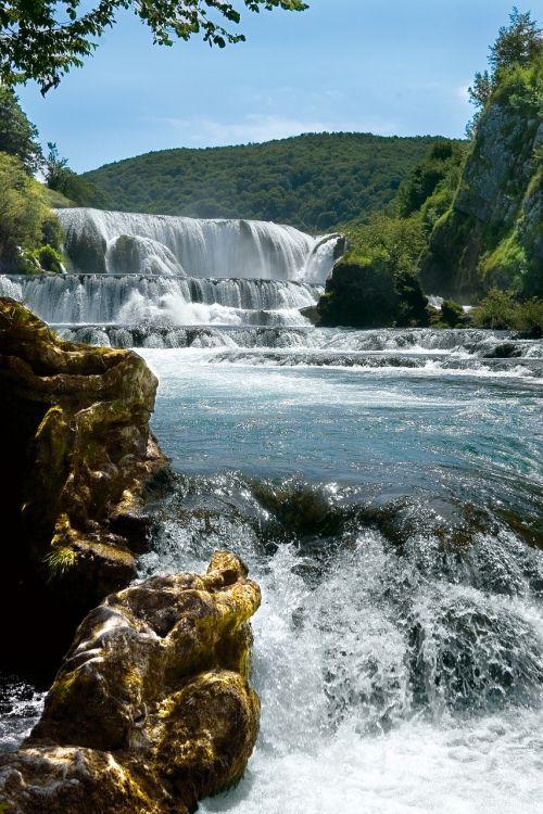 una river waterfall bosnia