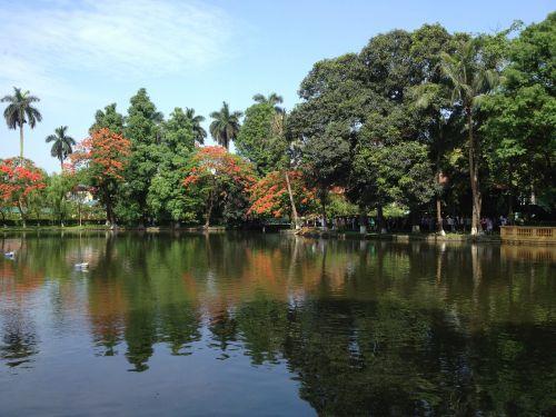 uncle ho's lake lake vietnam