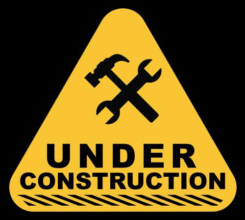 under construction construction sign