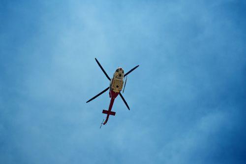 Under The Rescue Chopper