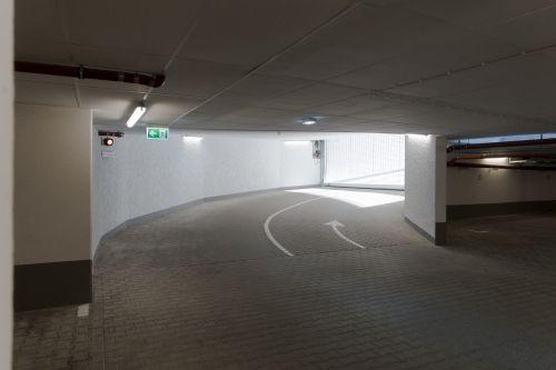 underground car park concrete grey