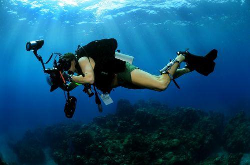 underwater photographer scuba diving military