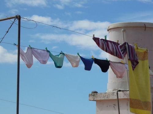 underwear clothes line laundry