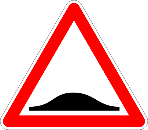 uneven road traffic sign sign