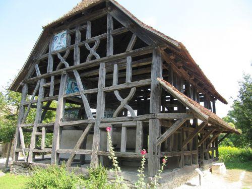 ungersheim ecomuseum truss shell
