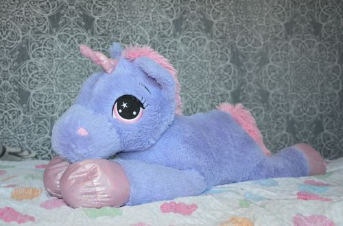 unicorn teddy bear purple