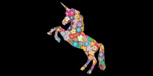 unicorn  horse  flower