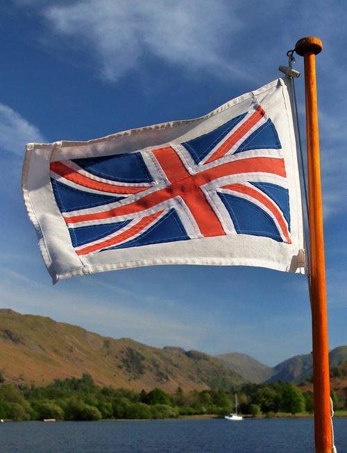 union jack  ullswater  britain