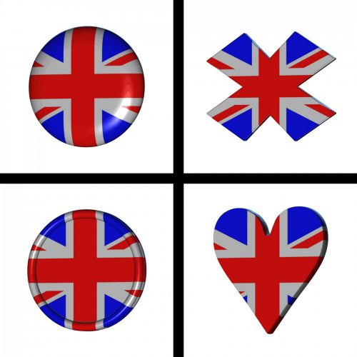 Union Jack Flag As Buttons