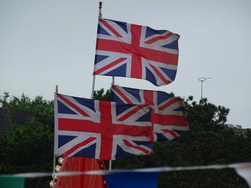Union Jack Flags At A Fairground