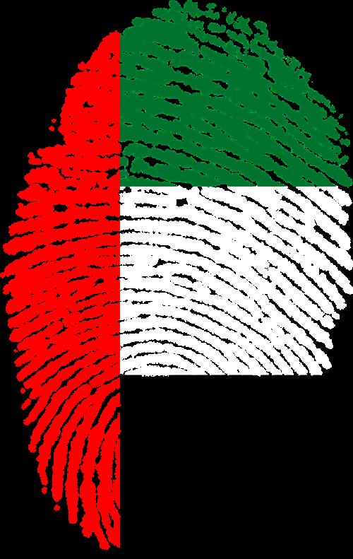 united arab emirates flag fingerprint