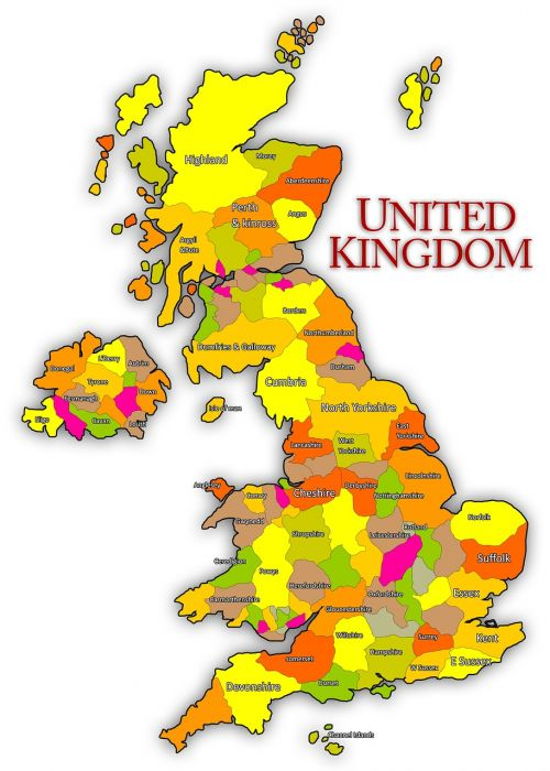 united kingdom uk map
