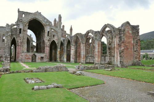 melrose abbey united kingdom scotland